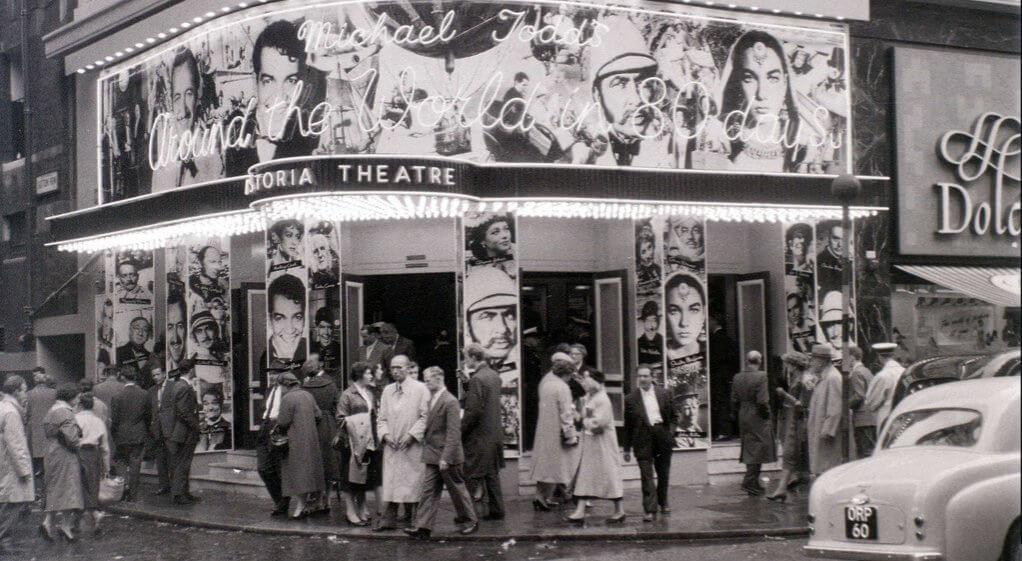 Astoria cinema, Charing Cross Road, London, about July 1957. Photo: Allan Hailstone