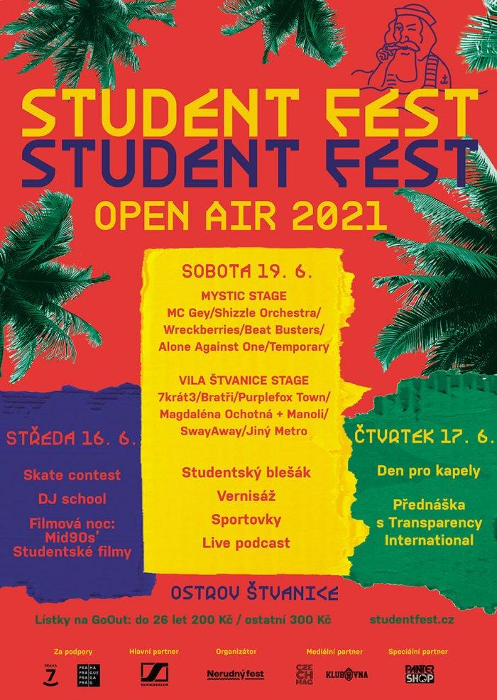 Student Fest 2021 Bude Patřit Mladým Talentům, Letos Poprvé Jako Open Air Na Pražské Štvanici