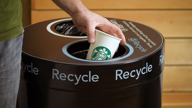 Starbucks Sustainability Commitment Recycling and Composting