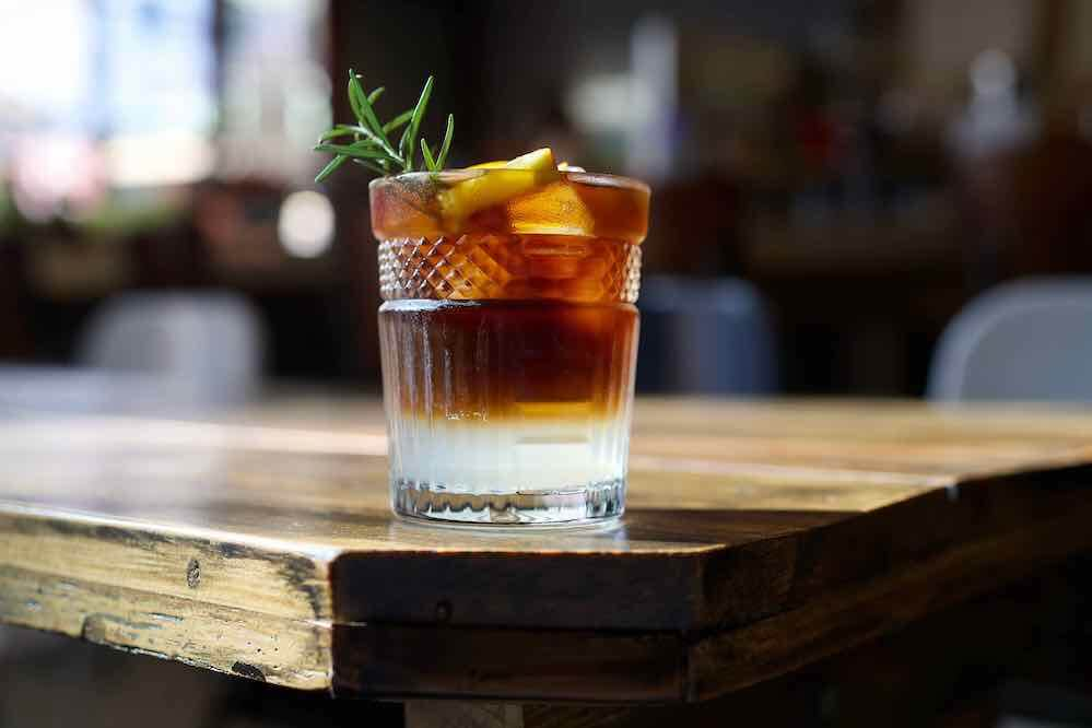 Cold Brew Gin tonic coffee, a combination of coldbrew, gin and orange juice of Dalat style