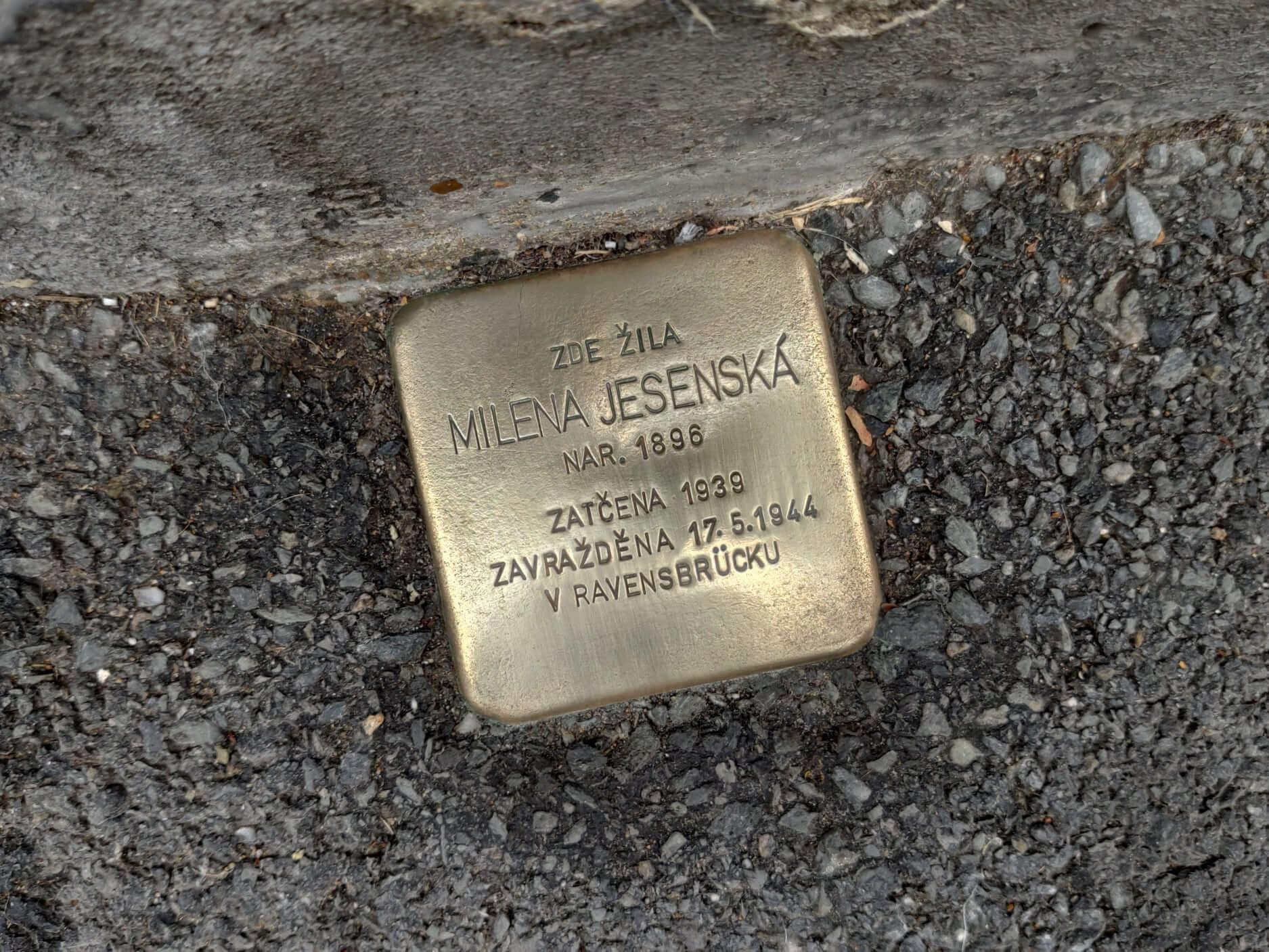 Fotografie pochází z archivu autora na  Stolpersteine Prague   Facebook