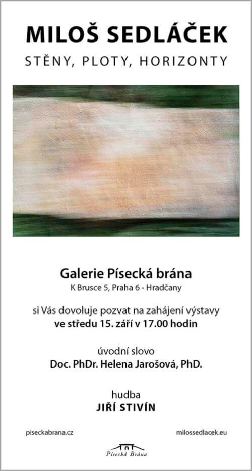 Miloš Sedláček Vystavuje V Písecké Bráně